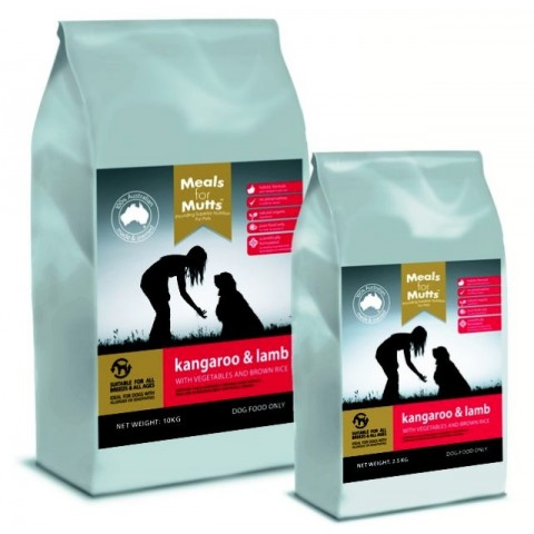 Meals for Mutts Kangaroo & Lamb 20kg - note personal pick up only